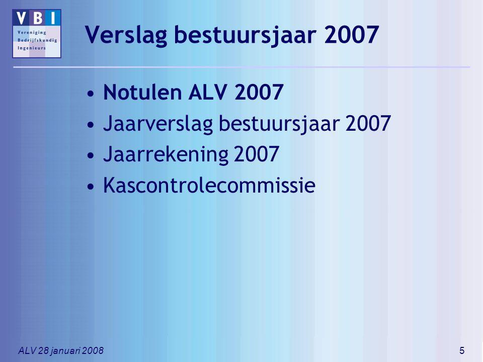 Verslag bestuursjaar 2007 Notulen ALV 2007