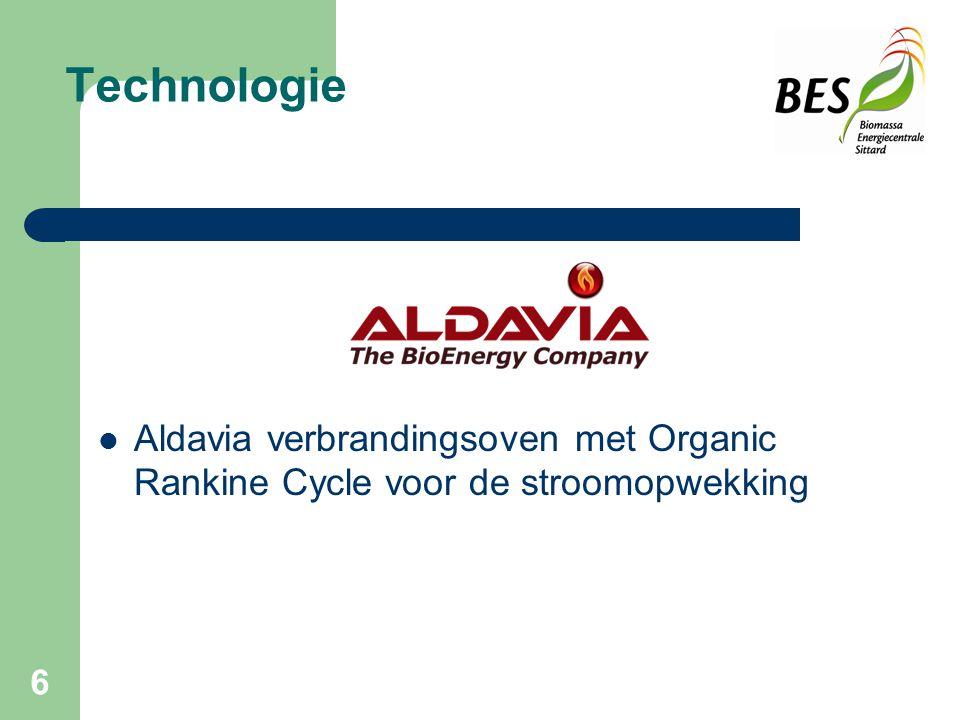 Technologie Aldavia verbrandingsoven met Organic Rankine Cycle voor de stroomopwekking