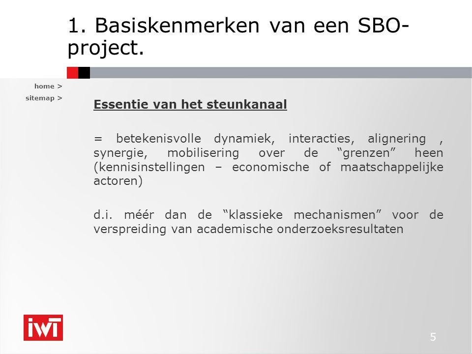 1. Basiskenmerken van een SBO-project.