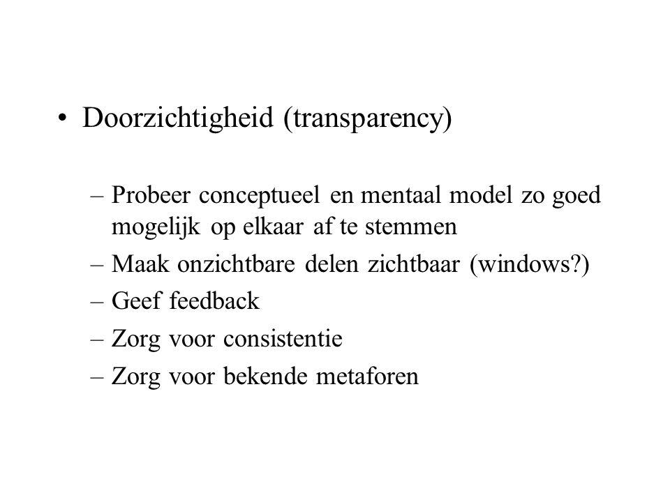 Doorzichtigheid (transparency)