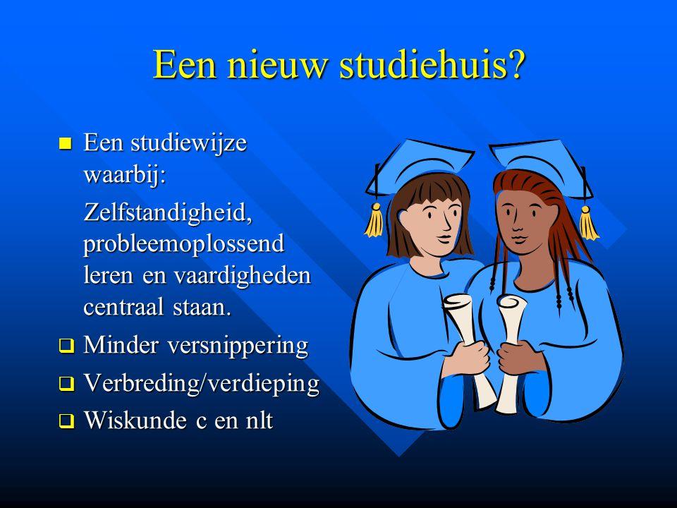 Een nieuw studiehuis Een studiewijze waarbij: