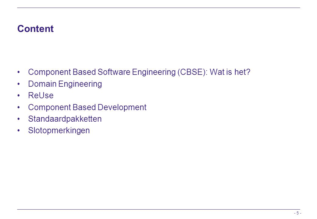 Content Component Based Software Engineering (CBSE): Wat is het