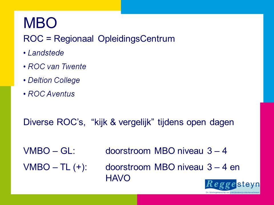 MBO ROC = Regionaal OpleidingsCentrum