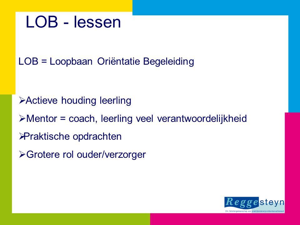 LOB - lessen LOB = Loopbaan Oriëntatie Begeleiding