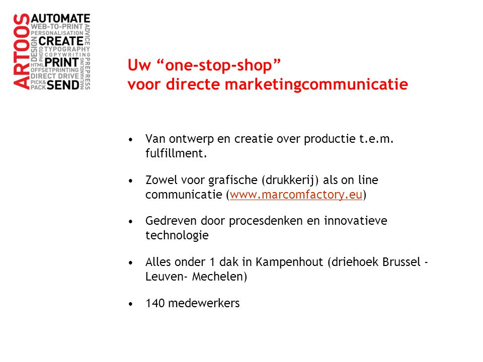 Uw one-stop-shop voor directe marketingcommunicatie
