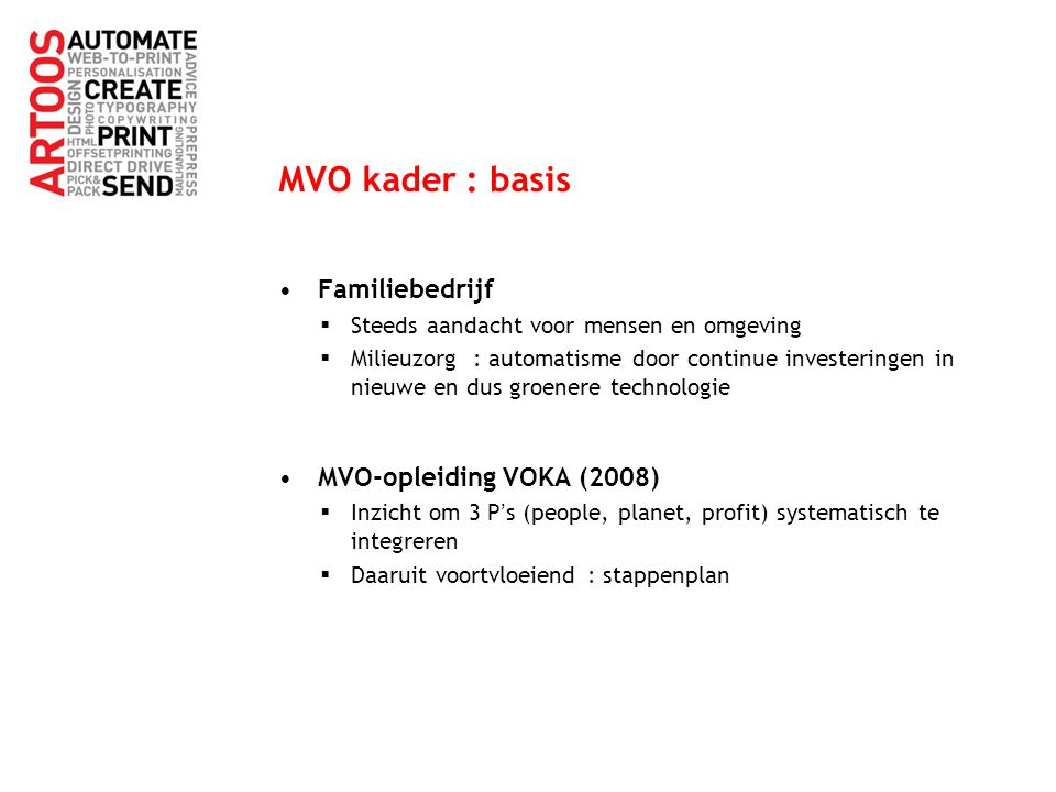 MVO kader : basis Familiebedrijf MVO-opleiding VOKA (2008)