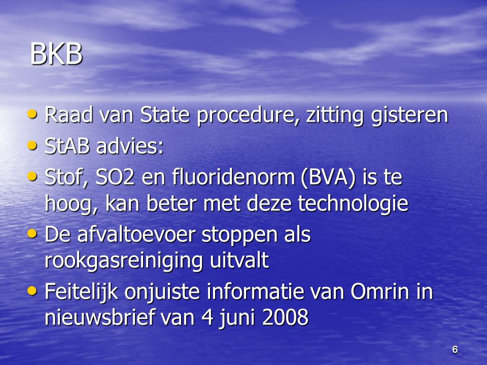 BKB Raad van State procedure, zitting gisteren StAB advies: