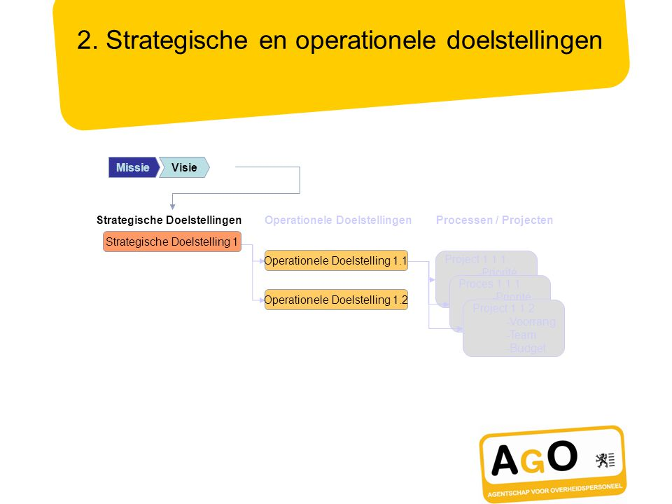 2. Strategische en operationele doelstellingen