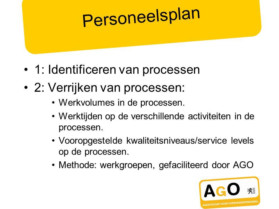 Personeelsplan 1: Identificeren van processen