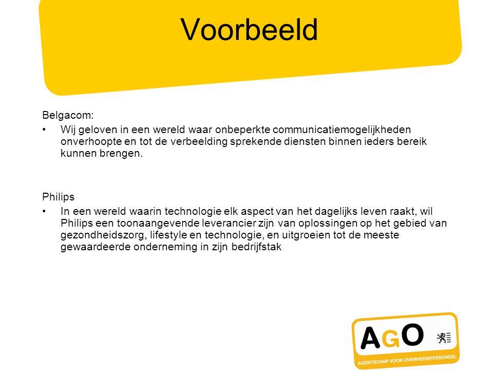 Voorbeeld Belgacom:
