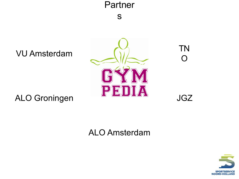 Partners VU Amsterdam TNO ALO Groningen JGZ ALO Amsterdam