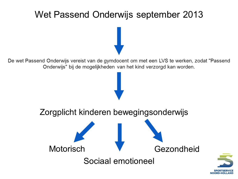 Wet Passend Onderwijs september 2013