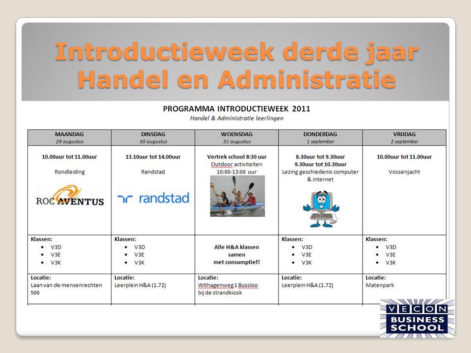 Introductieweek derde jaar Handel en Administratie