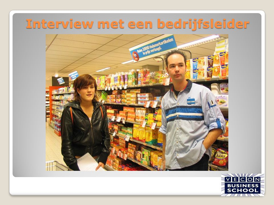 Interview met een bedrijfsleider