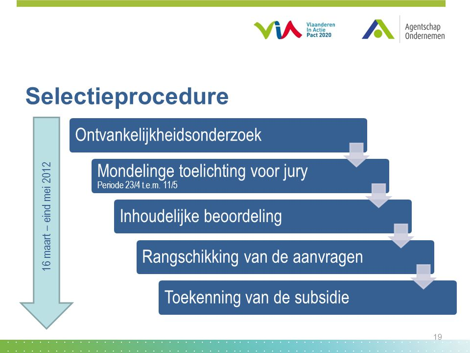 Selectieprocedure Ontvankelijkheidsonderzoek