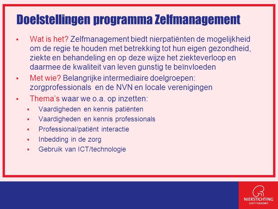 Doelstellingen programma Zelfmanagement