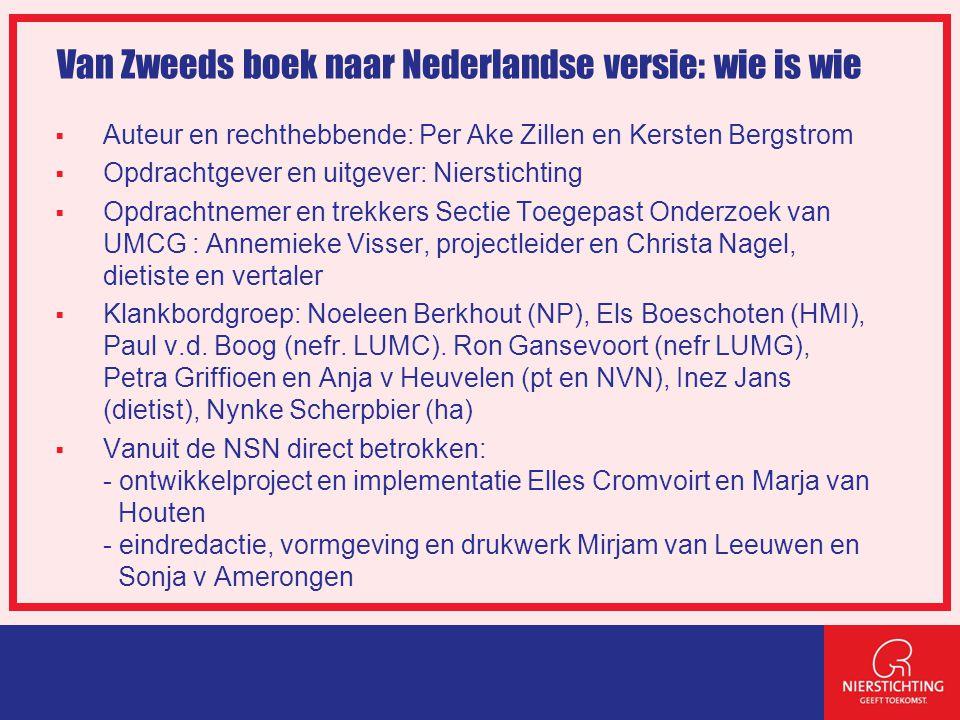 Van Zweeds boek naar Nederlandse versie: wie is wie