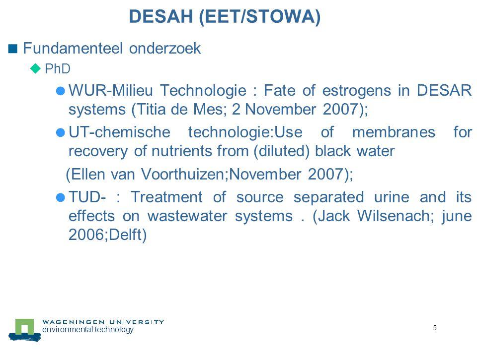DESAH (EET/STOWA) Fundamenteel onderzoek