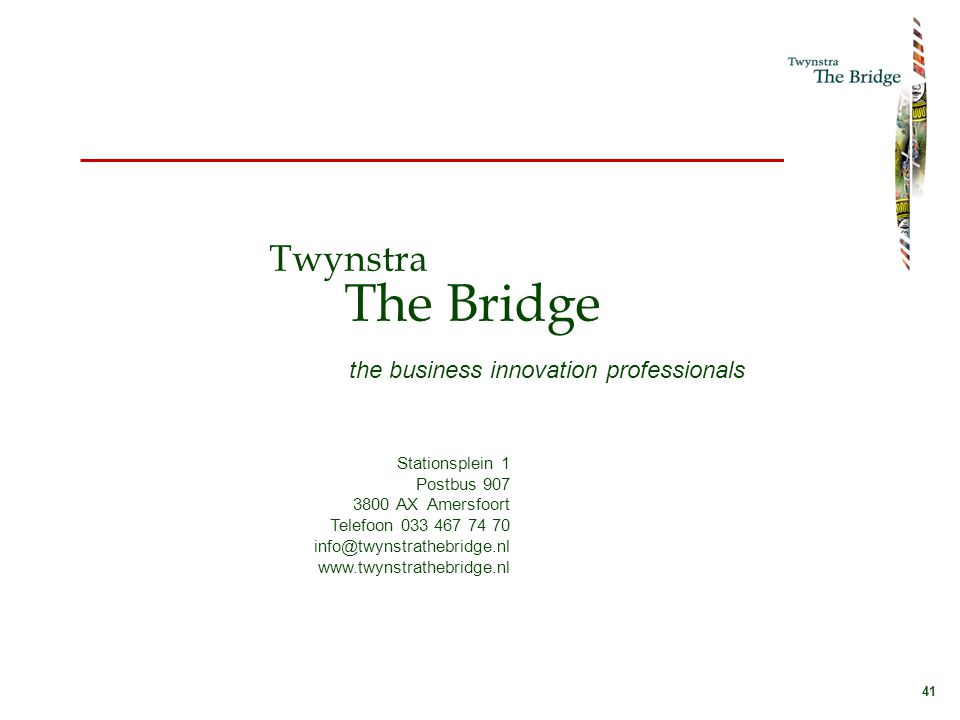 Twynstra The Bridge the business innovation professionals