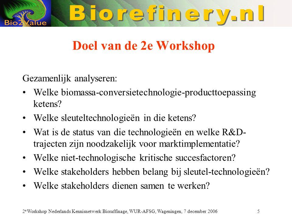 Doel van de 2e Workshop Gezamenlijk analyseren: