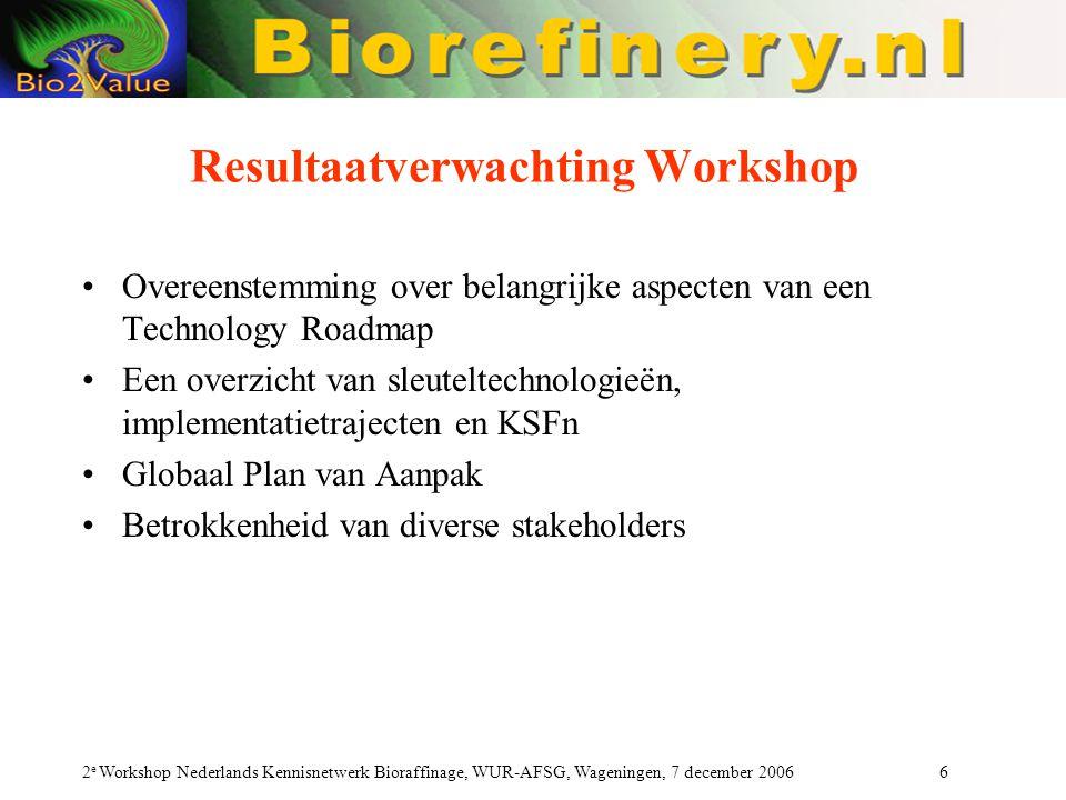 Resultaatverwachting Workshop