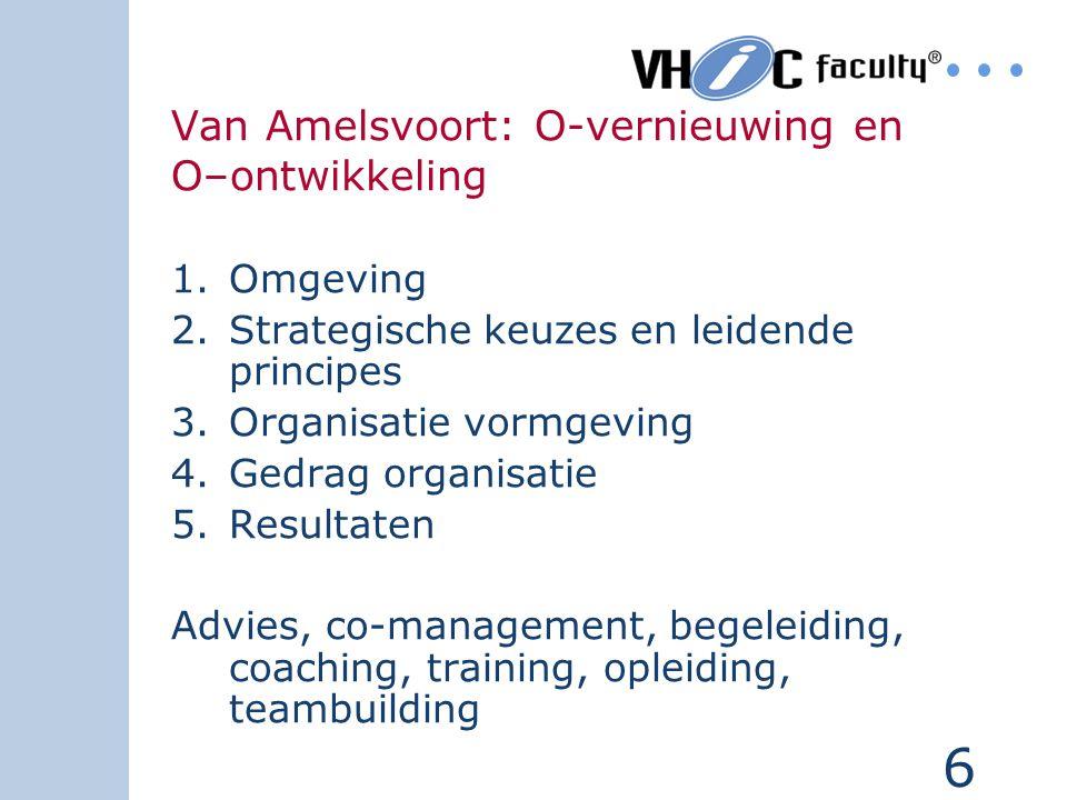 Van Amelsvoort: O-vernieuwing en O–ontwikkeling