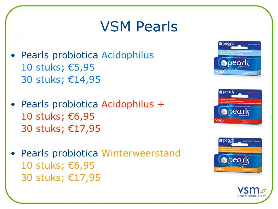 VSM Pearls Pearls probiotica Acidophilus 10 stuks; €5,95