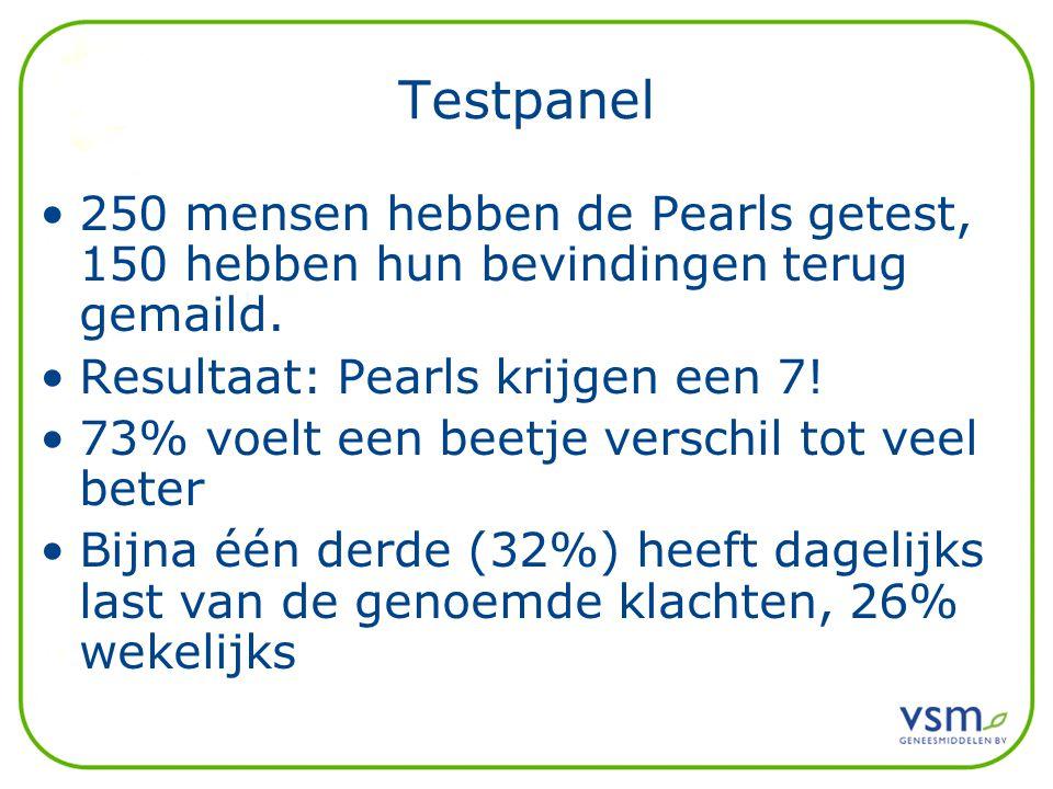 Testpanel 250 mensen hebben de Pearls getest, 150 hebben hun bevindingen terug gemaild. Resultaat: Pearls krijgen een 7!