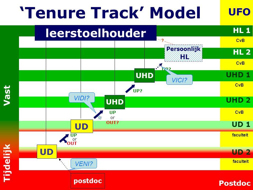 'Tenure Track' Model leerstoelhouder UFO Tijdelijk Vast UD UD HL 1
