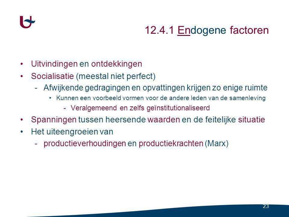 12.4.2 Exogene factoren Vreemd aan de samenleving
