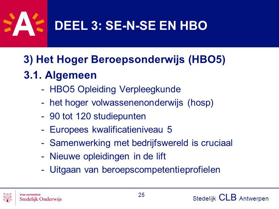 DEEL 3: SE-N-SE EN HBO 3.1. Algemeen
