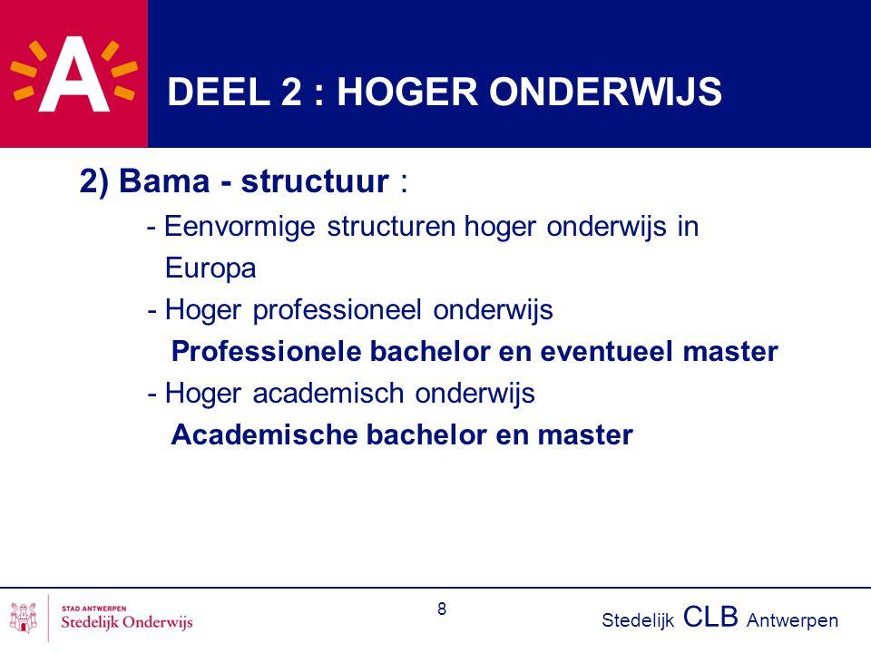 DEEL 2 : HOGER ONDERWIJS 2) Bama - structuur : Europa