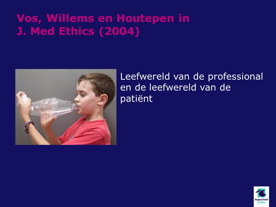 Vos, Willems en Houtepen in J. Med Ethics (2004)