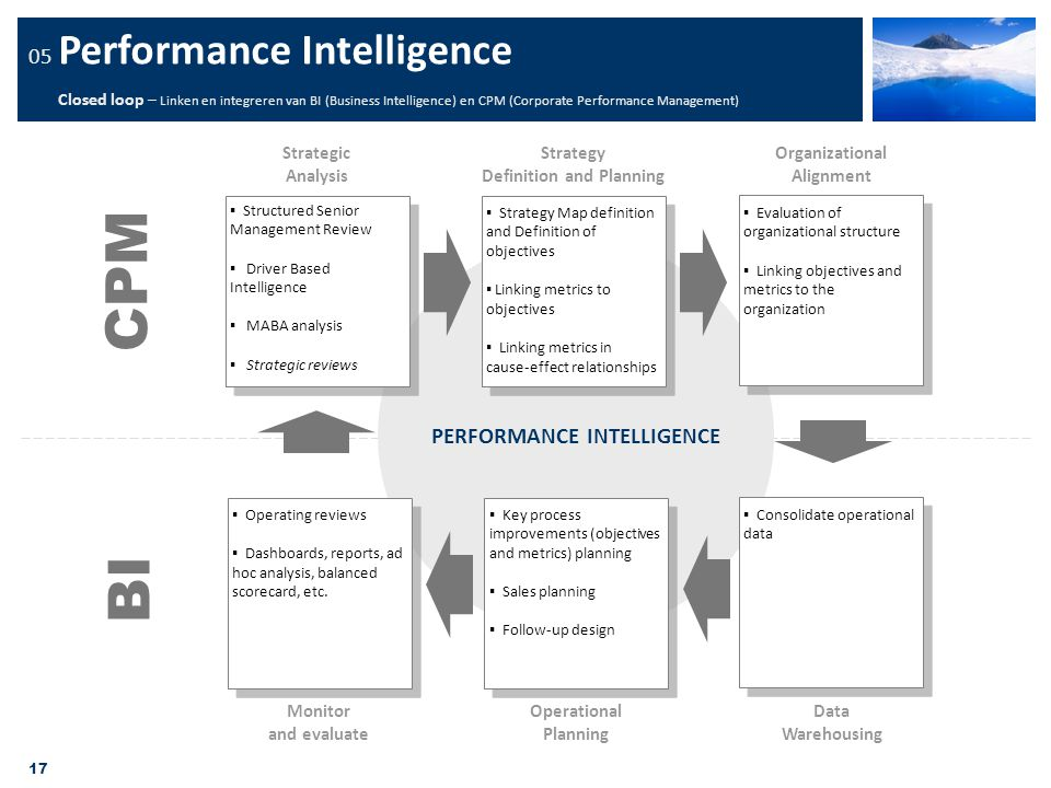 Definition and Planning PERFORMANCE INTELLIGENCE