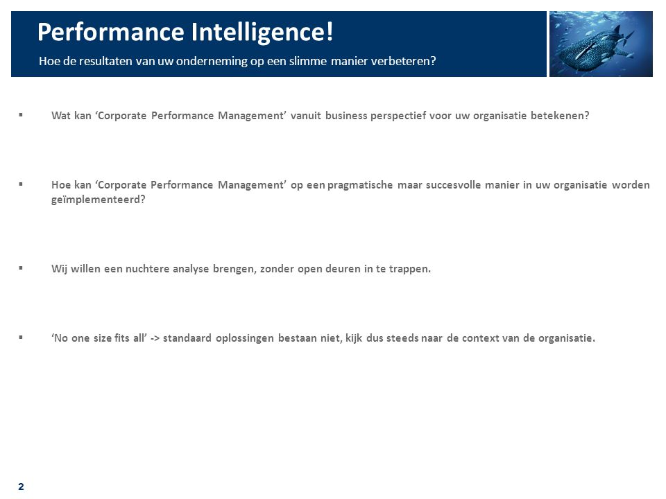 Performance Intelligence