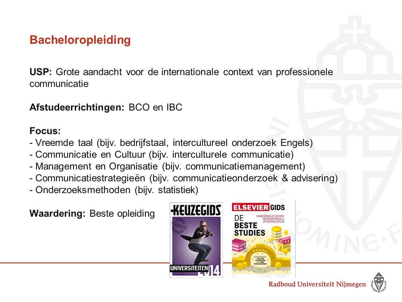 Bacheloropleiding USP: Grote aandacht voor de internationale context van professionele communicatie.