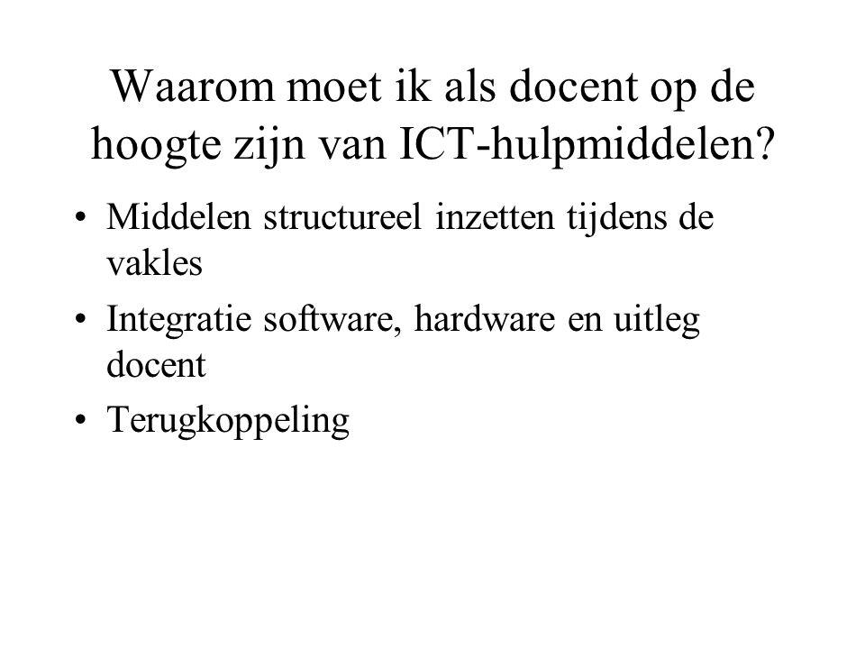 Waarom moet ik als docent op de hoogte zijn van ICT-hulpmiddelen