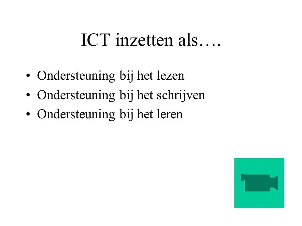 ICT inzetten als…. Ondersteuning bij het lezen
