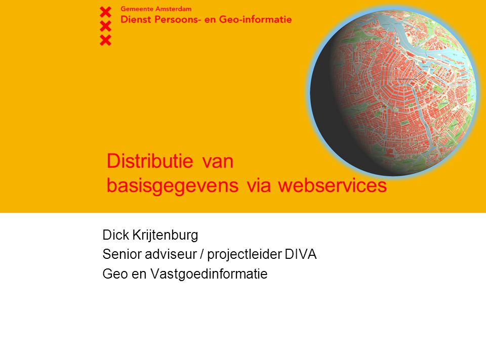 Distributie van basisgegevens via webservices