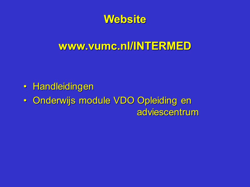 Website www.vumc.nl/INTERMED