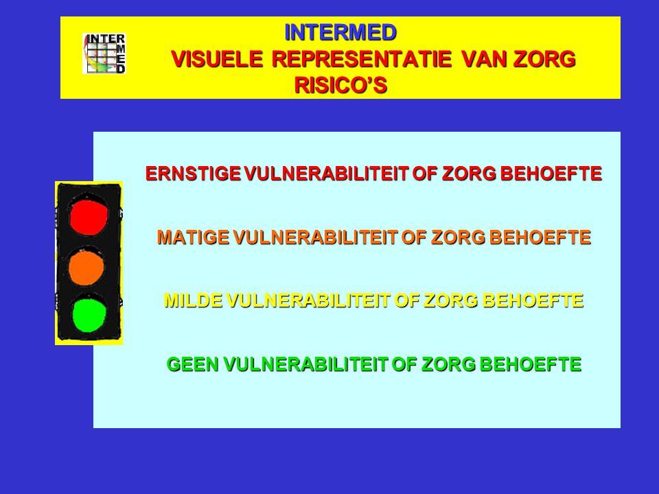 INTERMED VISUELE REPRESENTATIE VAN ZORG RISICO'S