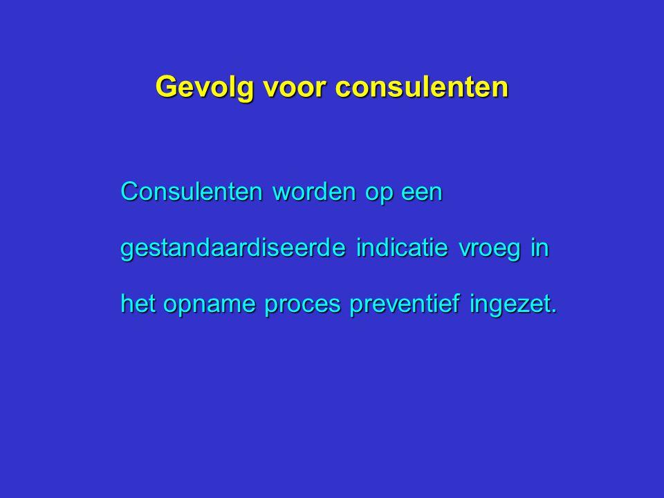 Gevolg voor consulenten