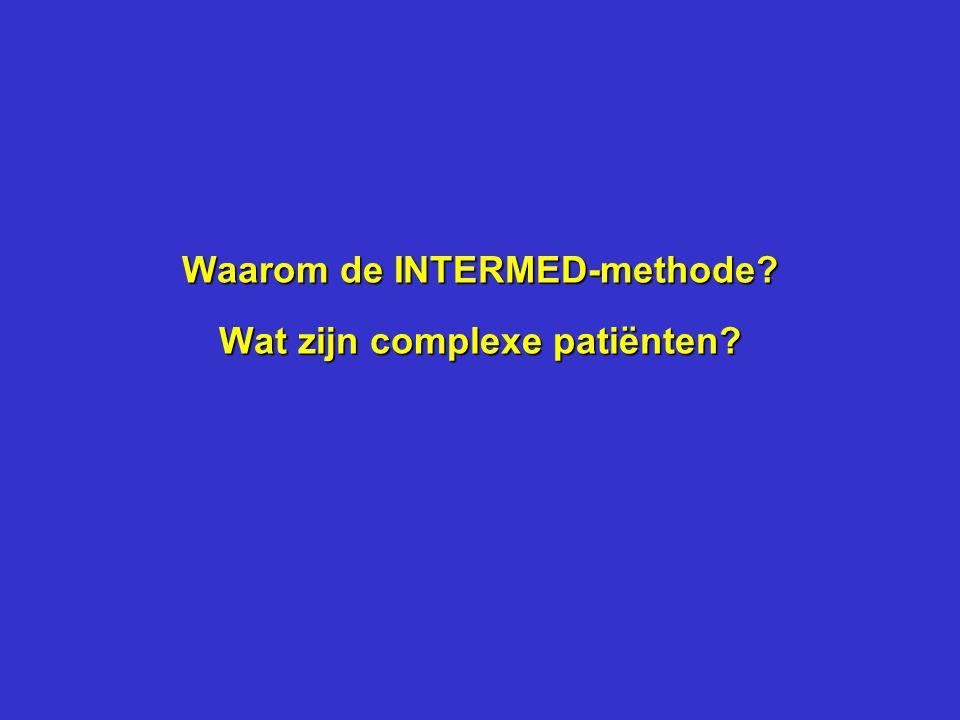 Waarom de INTERMED-methode Wat zijn complexe patiënten