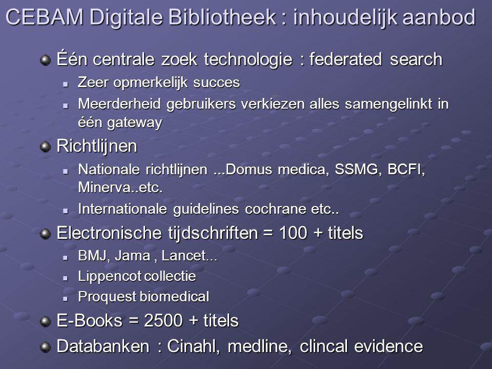 CEBAM Digitale Bibliotheek : inhoudelijk aanbod