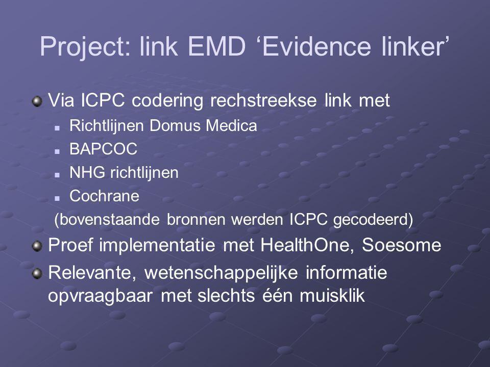 Project: link EMD 'Evidence linker'