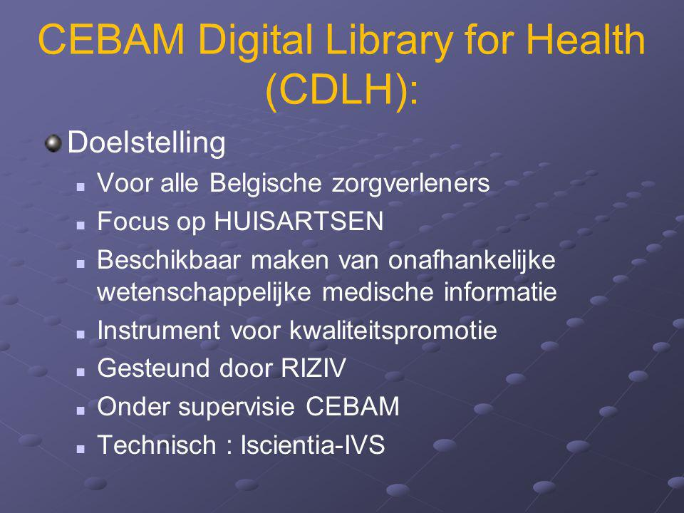 CEBAM Digital Library for Health (CDLH):