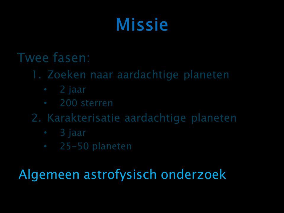 Missie Twee fasen: Algemeen astrofysisch onderzoek