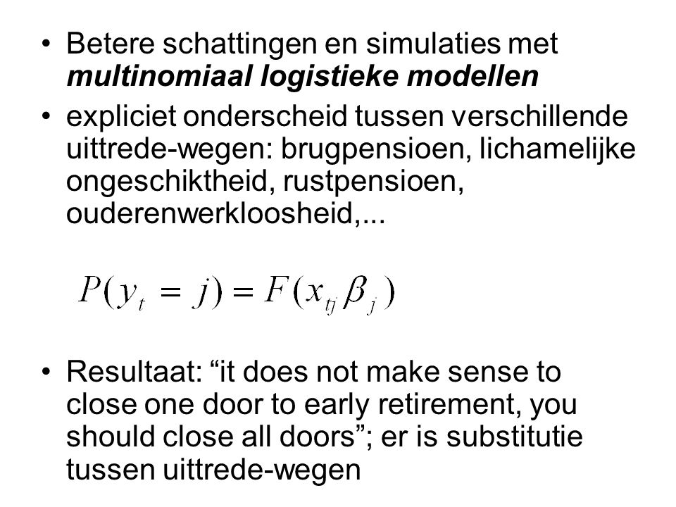 Betere schattingen en simulaties met multinomiaal logistieke modellen