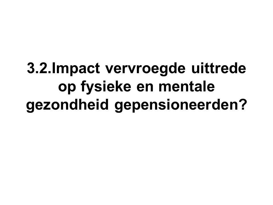 3.2.Impact vervroegde uittrede op fysieke en mentale gezondheid gepensioneerden