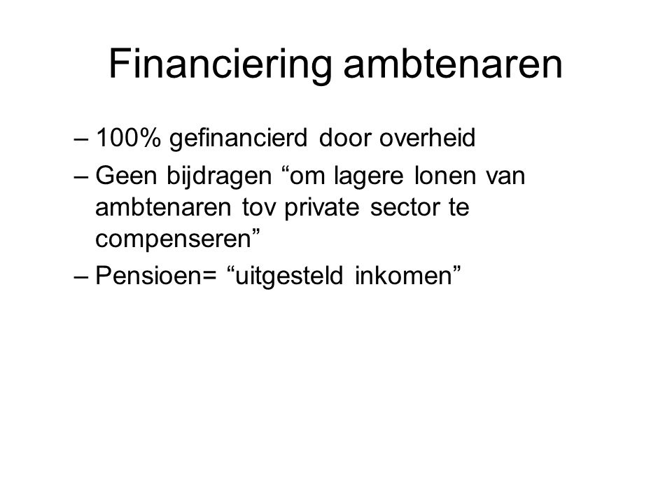 Financiering ambtenaren